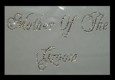 Mother of The Groom Script Iron On Transfer NEW low price