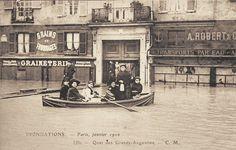 La crue de la Seine en 1910 dans les rues de Paris