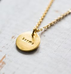 Goldene Kette für Dein Karma, Schmuck, Outfit / golden necklace for your karma, jewellery made by Heart Wishes via DaWanda.com