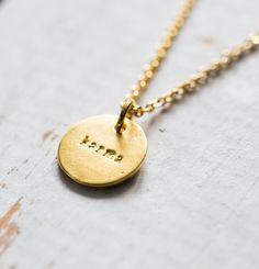 Goldene Kette für Dein Karma, Schmuck, Outfit / golden necklace for your karma, jewellery made by Heart Wishes via DaWanda.com