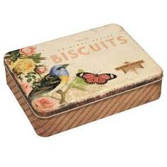 Biscuits Tin - Vintage