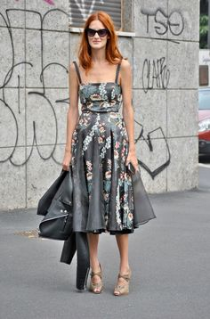 Taylor Tomasi Hill in leather floral ... amazingness.