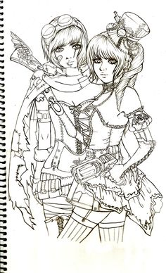 Steampunk Bonnie and Clyde by JolsAriella on DeviantArt