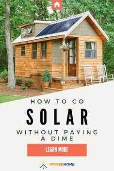 Installation Solaire, Solar Installation, Tiny House Cabin, Tiny House Plans, Ideas Hogar, Solar House, Cabins In The Woods, Solar Energy, Solar Panels