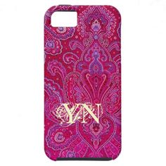 Pretty Paisley monogram iPhone 5 Cover from Jan4insight* - SOLD a customized case 2.16.13