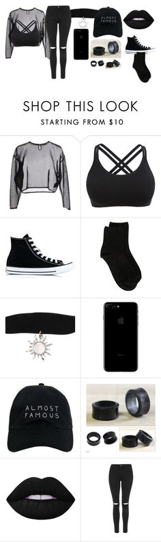 """Untitled #134"" by ms-otaku on Polyvore featuring Yves Saint Laurent, Converse, Erika Cavallini Semi-Couture, Nasaseasons, NOVICA, Lime Crime and Topshop"