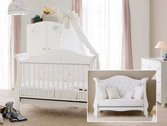 besonderes babyzimmer aus italien kinderm bel mit kronen. Black Bedroom Furniture Sets. Home Design Ideas