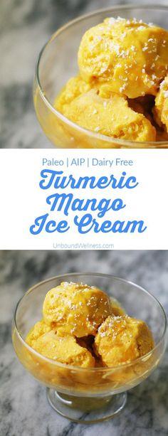 Turmeric Mango Ice Cream | Unbound Wellness