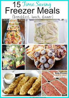 15 Freezer Meal Recipes for breakfast, lunch & dinner
