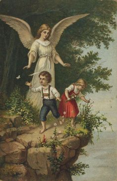 Kinder am Abhang