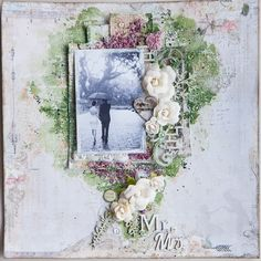 Blue Fern Studios: A Love Story - Mixed Media Layout Tutorial