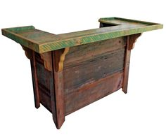 Barnwood Furniture | Cypress Patio Barnwood Bars | All Wood Furniture Incorporated ...