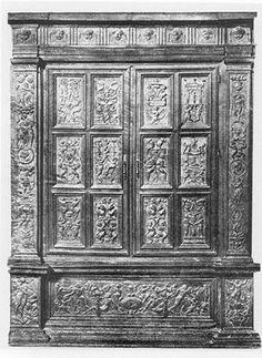 Armario manierista del Renacimiento español, siglo XVI, de Gregorio Pardo. #Esmadeco.