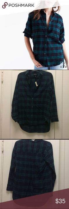 Classic Ex-Boyfriend Flannel NWT• perfect lightweight flannel for all year use• Madewell Tops Button Down Shirts