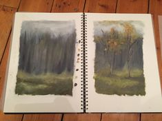 More preparation working towards my final painting - testing out the woodland background A Level Sketchbook, Woodland, Relationships, Painting, Art, Art Background, Painting Art, Kunst, Paintings