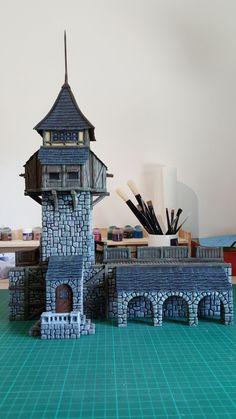 Medieval Tower - 28mm Building - Tabletop - Terrain - Diorama - Wargaming