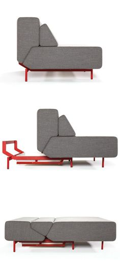 canapé-lit PILLOW par 2013 -- Prostoria améliore l'ergonomie des sièges (fait de bois massif , contreplaqué, mousse et métal)