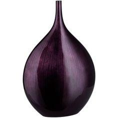 Small Dark Plum Purple Line Bottle Vase found on Polyvore