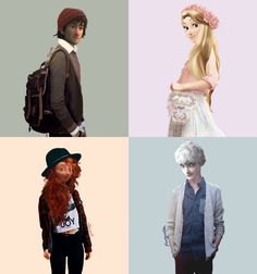 These clothes suit them all so well ! Loving Hiccup and Merida <3