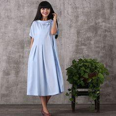 Women summer short sleeve loose pullover viscose nylon plus size dress