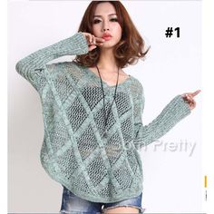 $19.84 Soft Gray Hollow Grid Knit Sweater Top Women's Loose Thin Sweater Outerwear - BornPrettyStore.com