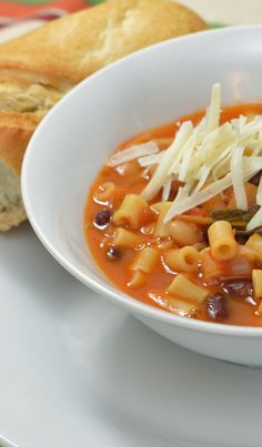 Pasta Fagioli Soup Recipe from WatchLearnEat.com #recipe, #soup, #Pastafagioli