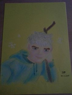 Jack Frost, Rise of the Guardians,  pastel and pensil drawing