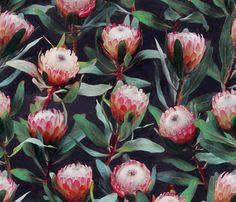 I love proteas, they are such wonderfully sculptural flowers. Plus, they're South African. So maybe I'm biased ...  Please let me know if you'd like any change in scale.