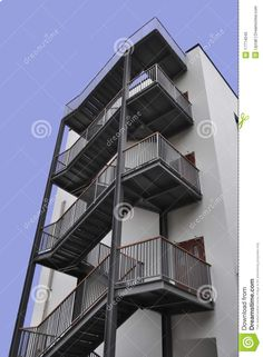 Emergency Exit Stairs Royalty Free Stock Photo - Image: 17774045