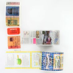 Ex series in newsprint (about MT), recipe (actual recipes) and vintage tickets.30mm, 35mm x10mMade in Japan