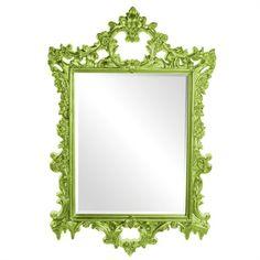 Howard Elliott Collection - Sherman Mirror - Glossy Green