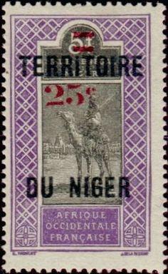 1924: Targui (ניז'ר, רפובליקה) (Type of Upper Senegal & Niger in 1914-1919) Mi:FR-NE 24,Yt:NE 20