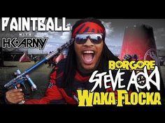 Pro Paintball w/ Steve Aoki Waka Flocka & Borgore! - YouTube