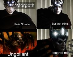 Morgoth, Futuristic Armour, Everything Funny, Jrr Tolkien, Dark Lord, I Am Scared, Middle Earth, Lord Of The Rings, Lotr