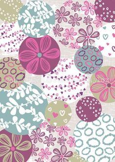 Floral & Organic Circles Print
