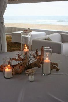 26 Non-Floral Beach Wedding Centerpiece Ideas