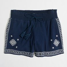 "Factory 3"" embroidered pull-on short : Shorts 