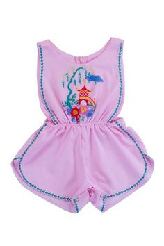 Poet Sunsuit Rose Pagoda with Hand Stitch Beautiful Children, Beautiful Hands, Soft Hands, Cotton Lights, Kids Wear, Playsuit, Poet, Hand Stitching, Printed Cotton