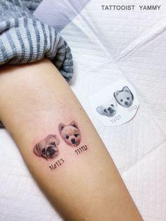 #강아지타투 #반려견타투 #애완동물타투 #포메라니안 #불독 #포메 #뽀메 #반려동물 #레터링타투 #동물타투 #야미타투 #홍대타투 #dogtattoo #pettattoo #animaltattoo #tattoo #tattoodesign #dogs #dog #pet #pets #puppy #ink #tattooistyammy Poodle Tattoo, Puppy Tattoo, Bulldog Tattoo, Tattoos For Dog Lovers, Dog Tattoos, Animal Tattoos, Body Art Tattoos, Small Tattoos For Guys Arm, Small Wrist Tattoos