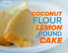 This Paleo lemon pound cake is bursting with lemon flavor!