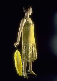 1920s beaded evening dress, Stewart & Company. Smithsonian.