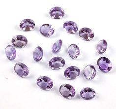 Wholesale Lot 10 Pieces Natural Amethyst Oval 9x11mm Normal Cut Loose Gemstone #Raagarw