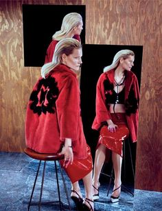 Mirror, Mirror Kirsten Owen by Sebastian Mader for Interview Russia May 2013 [Editorial] - Fashion Copious