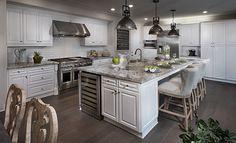 Residence 2 New Home Plan in Great Park Neighborhoods: Larkspur at Beacon Park by Lennar Huge Kitchen, Kitchen Dining, Kitchen Ideas, Kitchen Stuff, Dining Rooms, Modern Kitchen Design, Interior Design Kitchen, Kitchen Designs, Minimalist Home Decor
