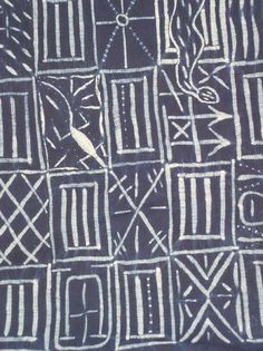 Africa | This Leopard Society textile of the Cross River area of south-eastern Nigeria is sewn and resist dyed on commercial cotton | Dates to the 20th century