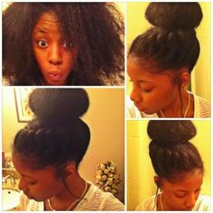 I want my bun to look this full when i do this