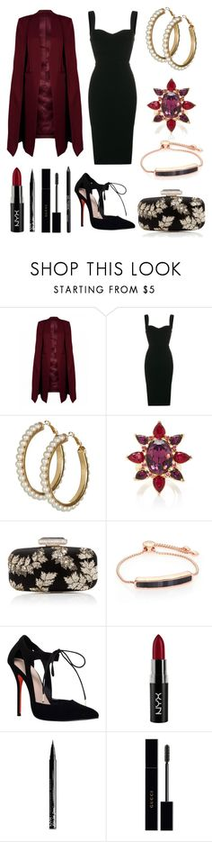 """Beautiful night"" by massielcristina ❤ liked on Polyvore featuring Victoria Beckham, Oscar de la Renta, Monica Vinader, Carvela, NYX, Gucci and Urban Decay"