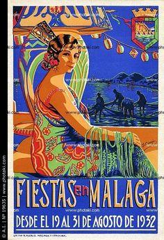 Affiches Feria Málaga #Feria, #Malaga, #Affiches, #Andalusië, #Vakantie #reizen