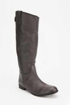 BDG Tall Leather Boot-grey