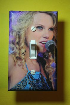 Taylor Swift Light Switch Plate Cover girls child kids teen room home decor bedroom pop star by ComicRecycled on Etsy